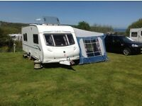 Caravan 5 berth Ace Nightstar 20017 in good condition, motor mover and full awning included