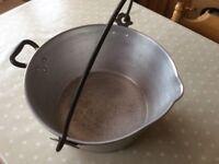 Vintage jam preserving pan