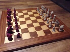 alice in wonderland chess set games toys antique