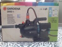 Gardena 3000/4 water pump with suction hose
