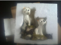 3 WESTIE DOG COLLECTABLE FIGURINES - SHERRATT & SIMPSONS - NEW - BOXED