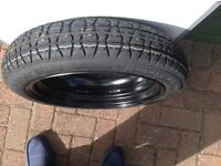 Space Saver Wheel Tyre (Dunlop Miser)with Accessories