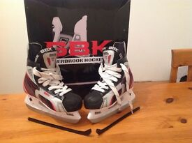 ice hockey boots (size 3).
