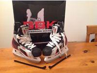 ice hockey boots (size 3).