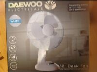 "DAEWOO Desk Top 12"" Oscillating Fan"