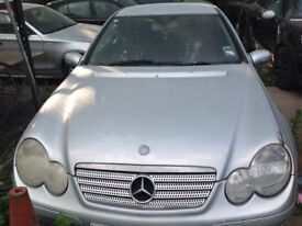 Mercedes c class coupe 1.8petrol 2005 breaking