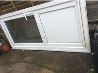White PVC double glazed front door