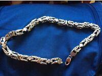 Heavy silver chain 7.6 ounce