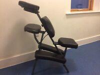 Black Portable Massage Chair