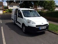 PEUGEOT PARTNER CREW HDI 92 NO VAT 2012 (62) ONE OWNER FULL SERVICE HISTORY 5 SEATER