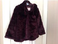 GIrls fake fur Coat