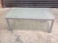 Glass coffee table or tv stand