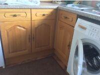 Kitchen doors in solid medium oak