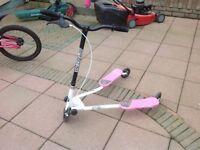 Girls sporter three wheel scooter