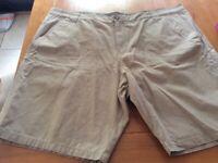 Men's khaki canvas shorts 48 regular