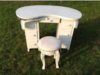 Vintage Childs dressing table with stool