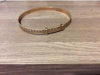 Antique 9ct stamp js Rolled gold solid expanding bangle