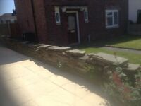York stone wall for sale approx 40 foot long height 16 inch with16 inch