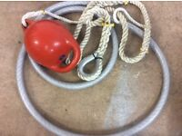 Mooring rope with buoy