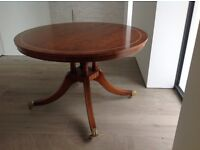 Very attractive hall table for sale, Landsown, antique wood with brass