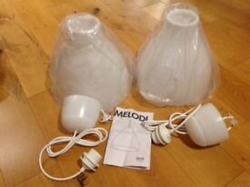 IKEA lamp shades x2 (melodi)