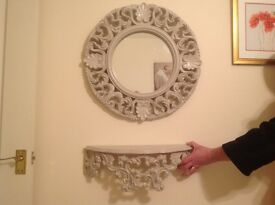 Mirror Shelf and Table Set Price now Reduced