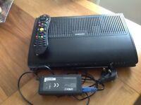 Virgin media box ,remote plus power cable
