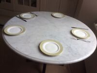 Antique Dining table with marble top