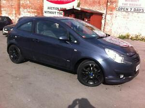 2007 VAUXHALL CORSA 1.2i 16V SXi 3 DOOR [AC] MANUAL HATCHBACK PETROL BLUE
