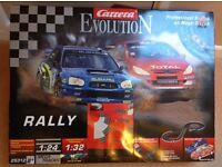 Carrera Evolution Rally set, similar to Scalextric. In an as new condition, fully workin
