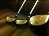 NIKE VRS CLUBS, 10.5 DRIVER,,3 AND 5 WODS + HEADCOVERS,,