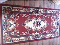 3 Bedroom Items: Vintage Style Traditional Rug / Retro Single Bed Headboard / Lampshade
