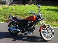 Lexmoto Michigan 125cc Custom , Orange in stock now £1,499.99 + otr FINANCE AVAILABLE
