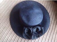 Navy Blue Wedding Hat
