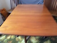 GPlan dining table and four chairs - vintage 1970's