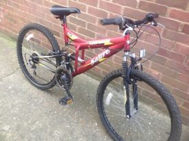 Adults Sabre Dual Suspension mountain bike 15 Speed