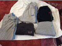 Set of five mens joggers adidas badboy and nike all in xl size
