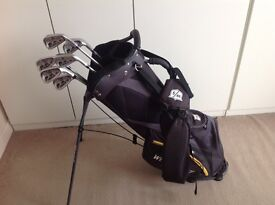 Wilson Staff v2 irons with Wilson Staff Nexus carry bag