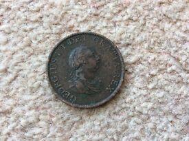 Halfpenny Coin 1799