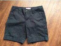 Esprit Black Chino Shorts size 10