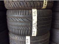 Bridgestone Runflat 315/35/20 x2 5-6mm tread