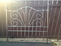 Victorian / cottage style bed head for double. Bed in nickel silver