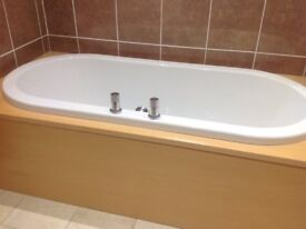 Bath, counter top basin, taps and vanity unit