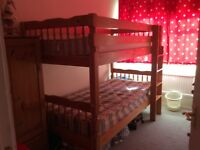 Bunk beds can be 2 single beds in perfect condition