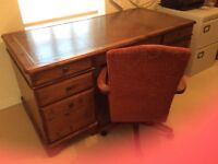 Ducal Desk, Chair and Bookcase