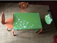 Childs Play Table and 3 Animal Chairs