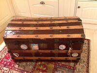 Very old wooden trunk