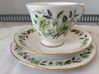 Colclough Bone China Trio. Sedgley Green Floral.