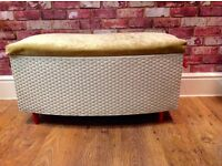 LOVELY UPCYCLED STORAGE BOX WITH COVERED SEAT - CAN DELIVER