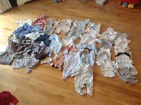 Baby clothes boys bundle 0-3 months